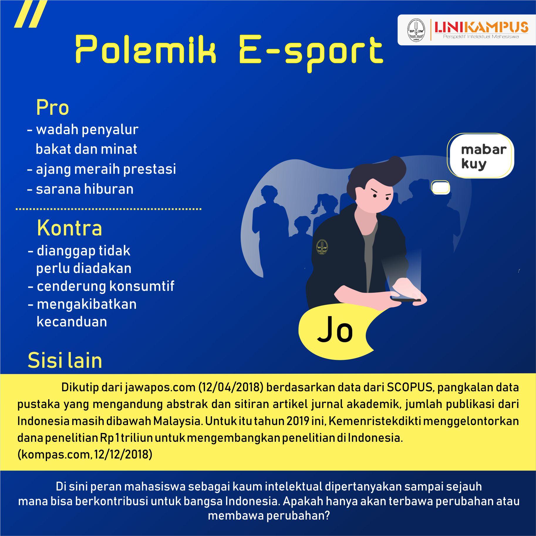 infografik pro dan kontra e-sport
