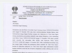 surat jawaban dekan fh untuk rektor